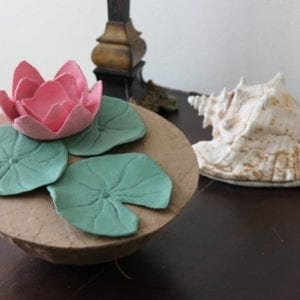 Floating Lotus Urn Display