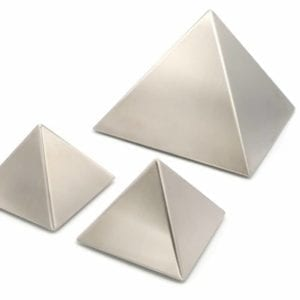 stainless steel pyramid urn for ashes